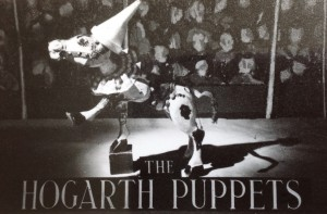 Muffin advertising the Hogarth Puppets